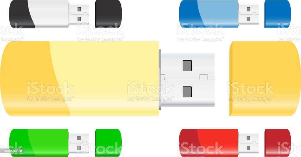 USB Flash Drives royalty-free stock vector art