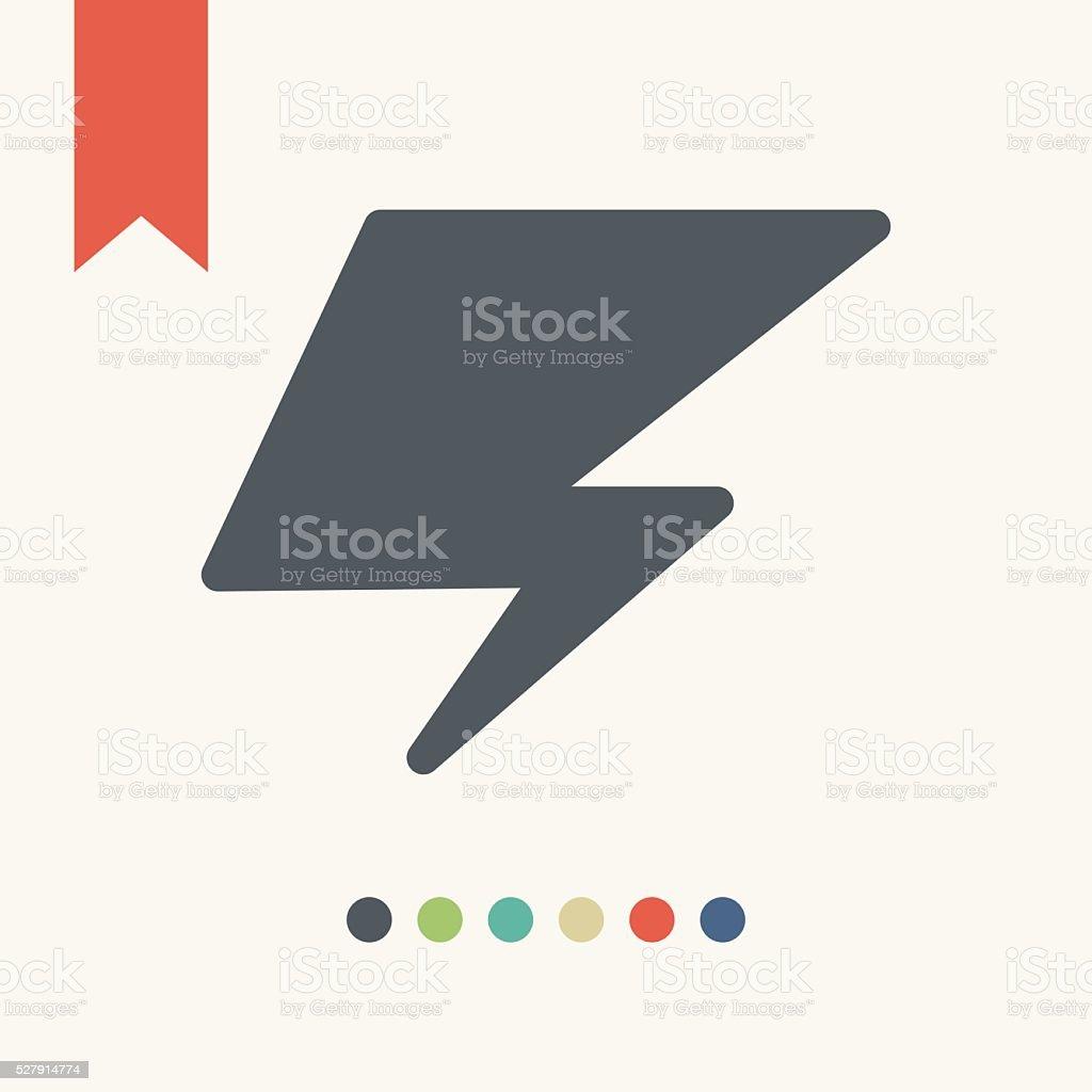 Flash icon vector art illustration