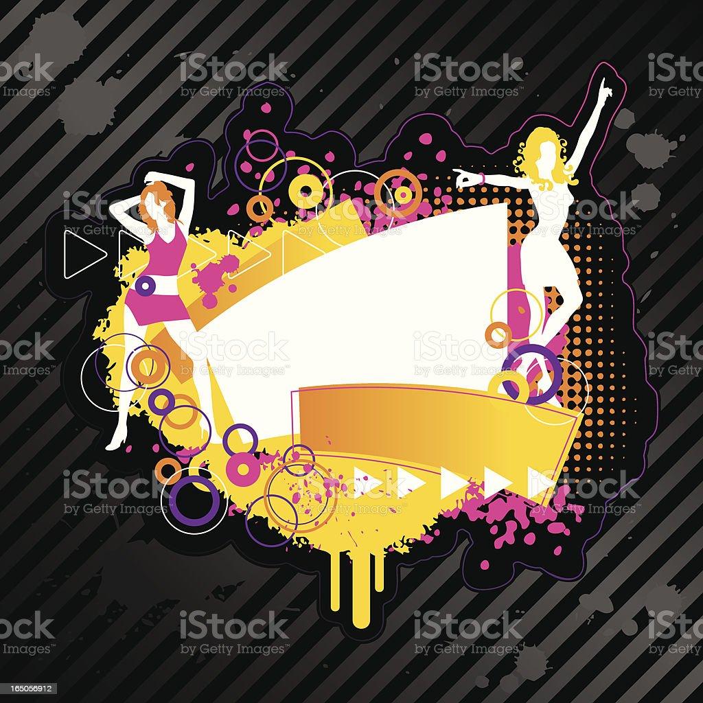 Flash Text Design Element Series DANCE royalty-free stock vector art