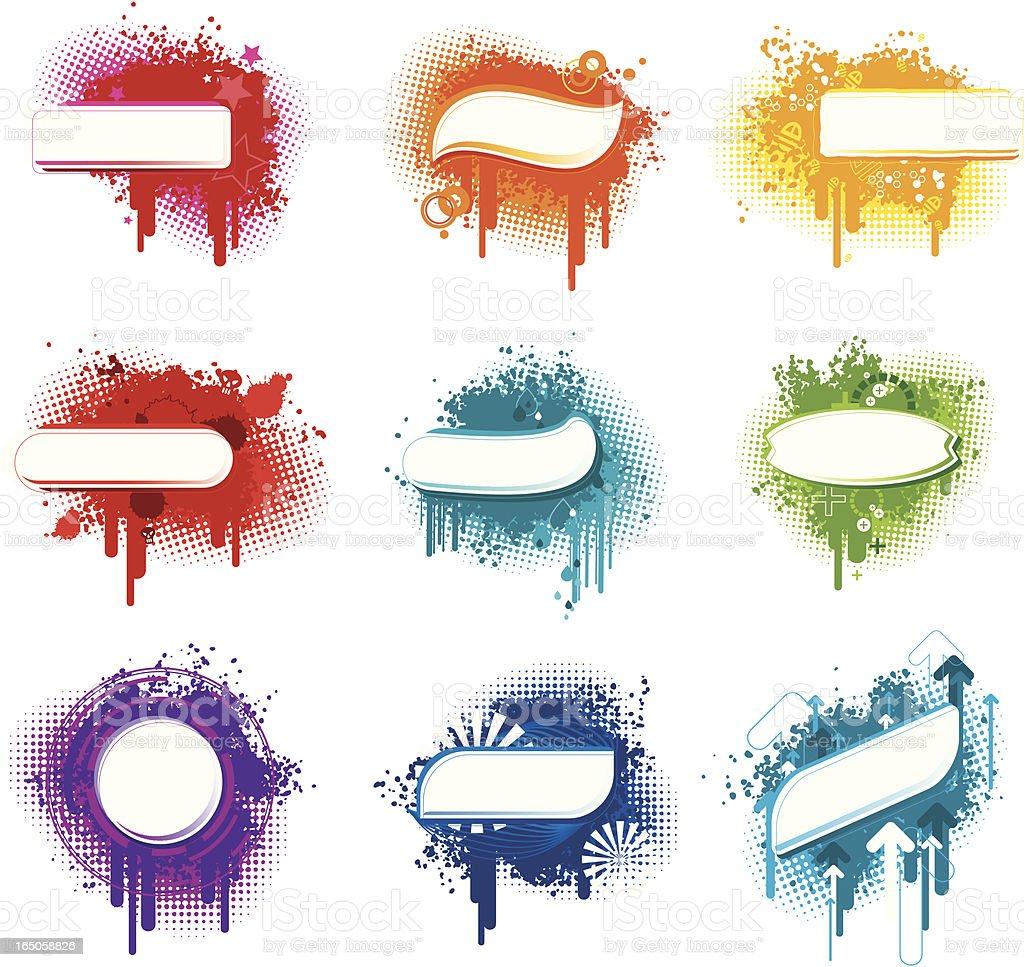 Flash Text Design Element Series vector art illustration