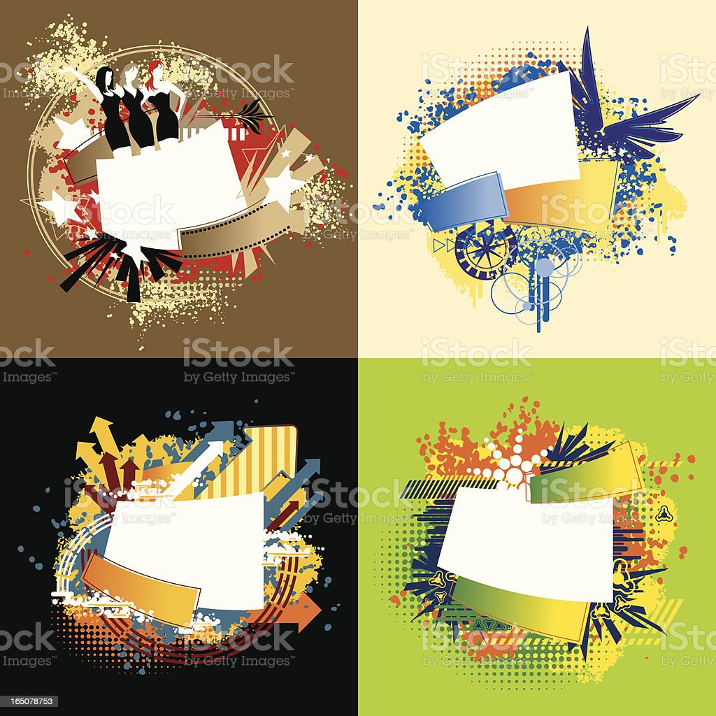 Flash Text Design Element Series royalty-free stock vector art