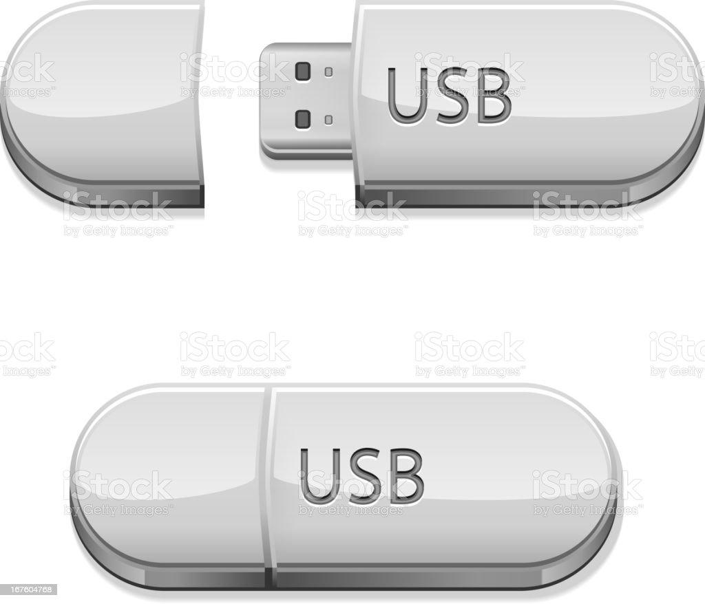 USB flash royalty-free stock vector art