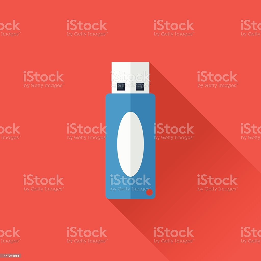 USB flash vector art illustration