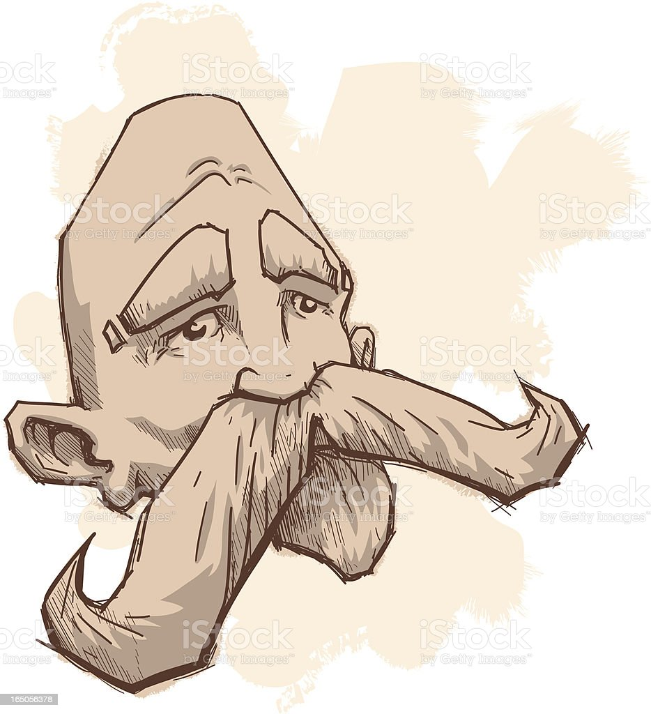 Flash your mustache royalty-free stock vector art