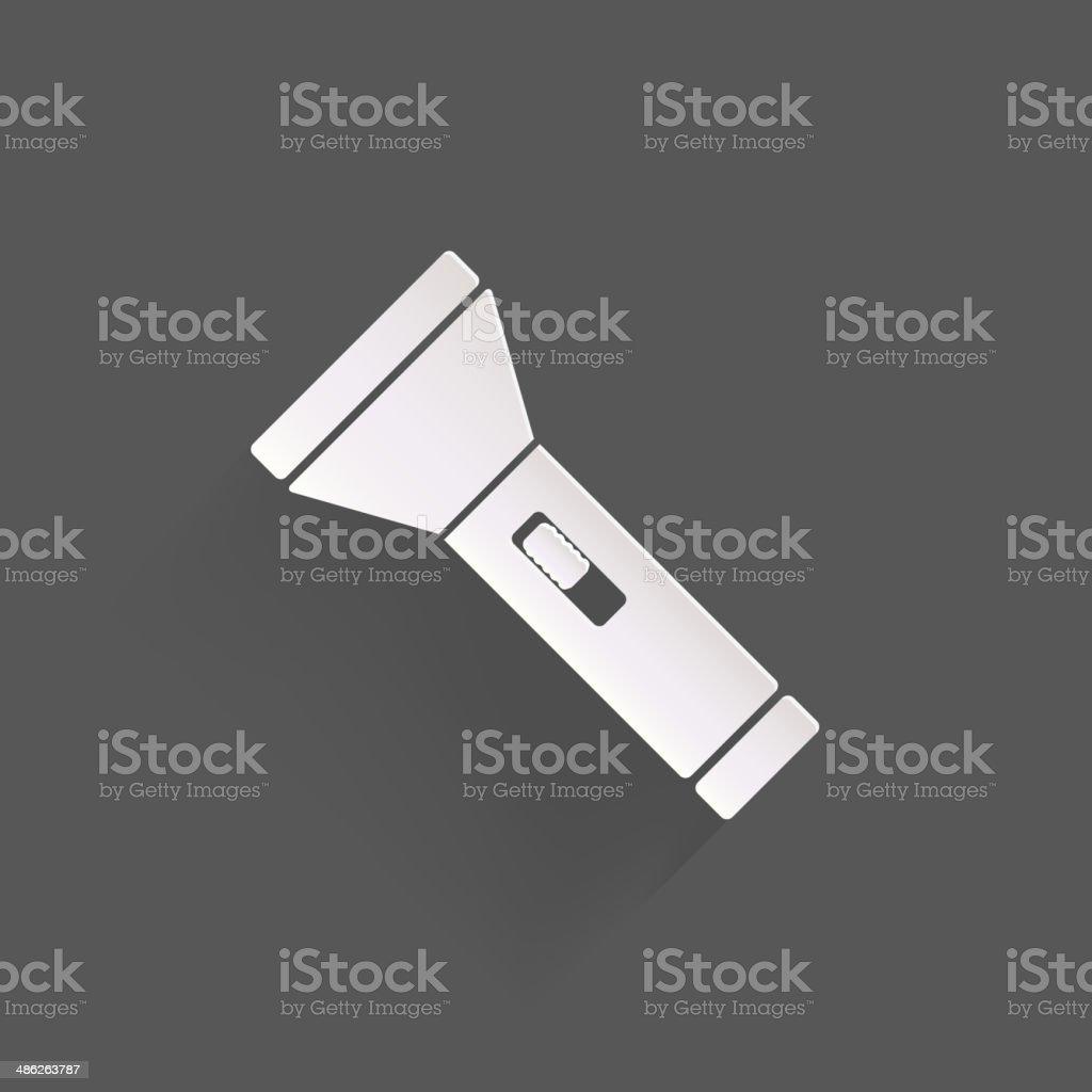 Flashlight icon vector art illustration