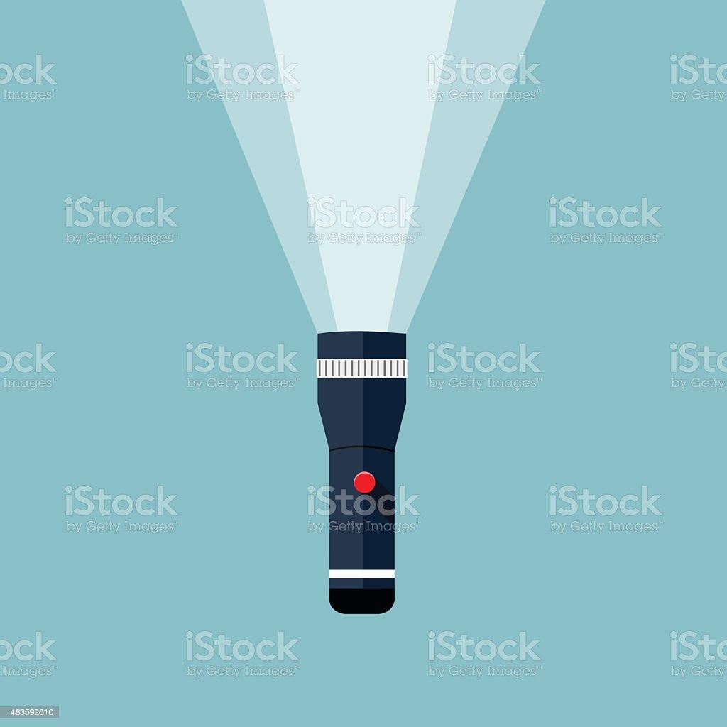 Flashlight illustration. vector art illustration