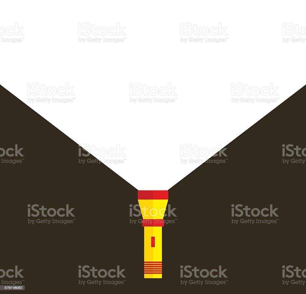 Flashlight or pocket torch vector art illustration
