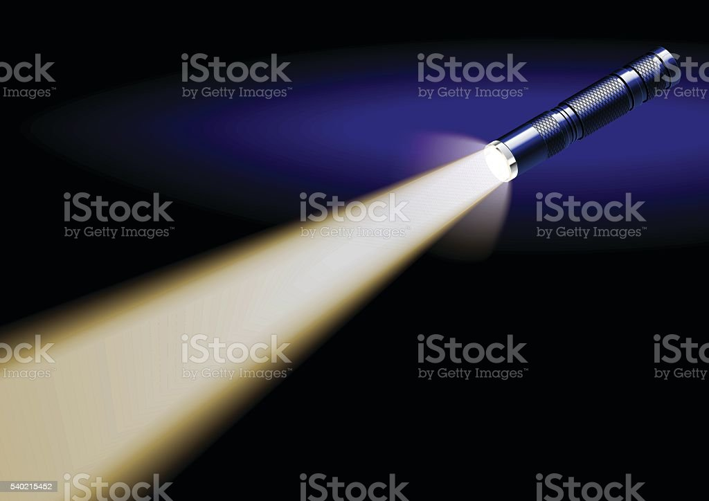 flashlight vector art illustration
