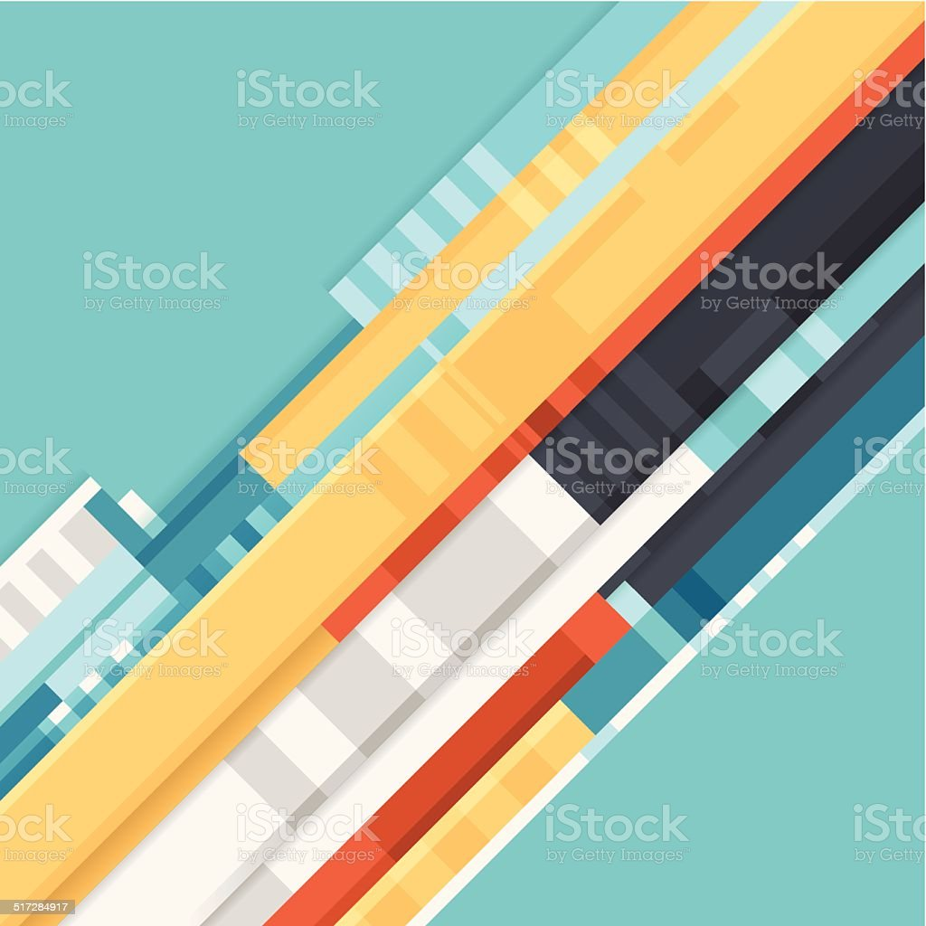 Flat Abstract Background vector art illustration