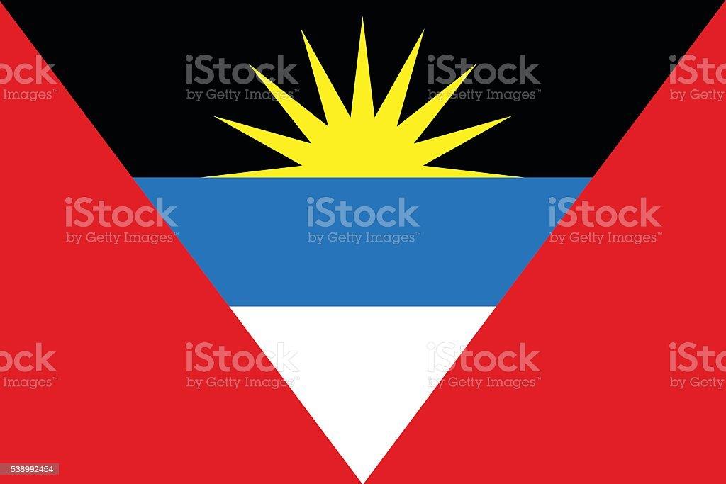Flat Antigua and Barbuda flag vector vector art illustration