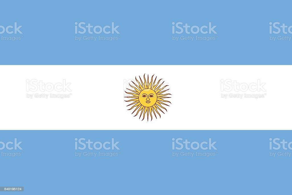 Flat Argentina flag vector vector art illustration