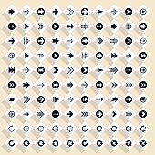 Flat arrow icon rhombus web button