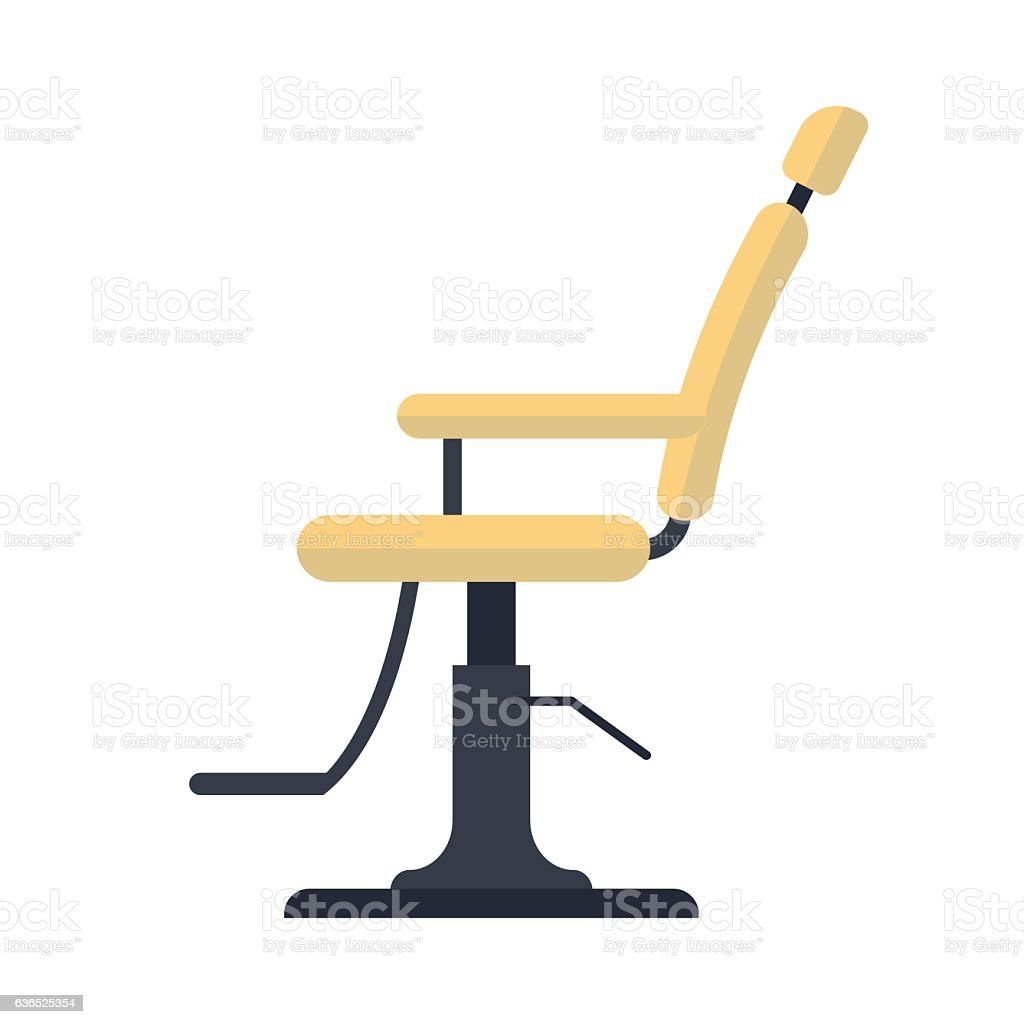Hair salon chair isolated stock photos illustrations and vector art - Flat Barber Chair Logo Icon Isolated On White Background Royalty Free Stock Vector Art