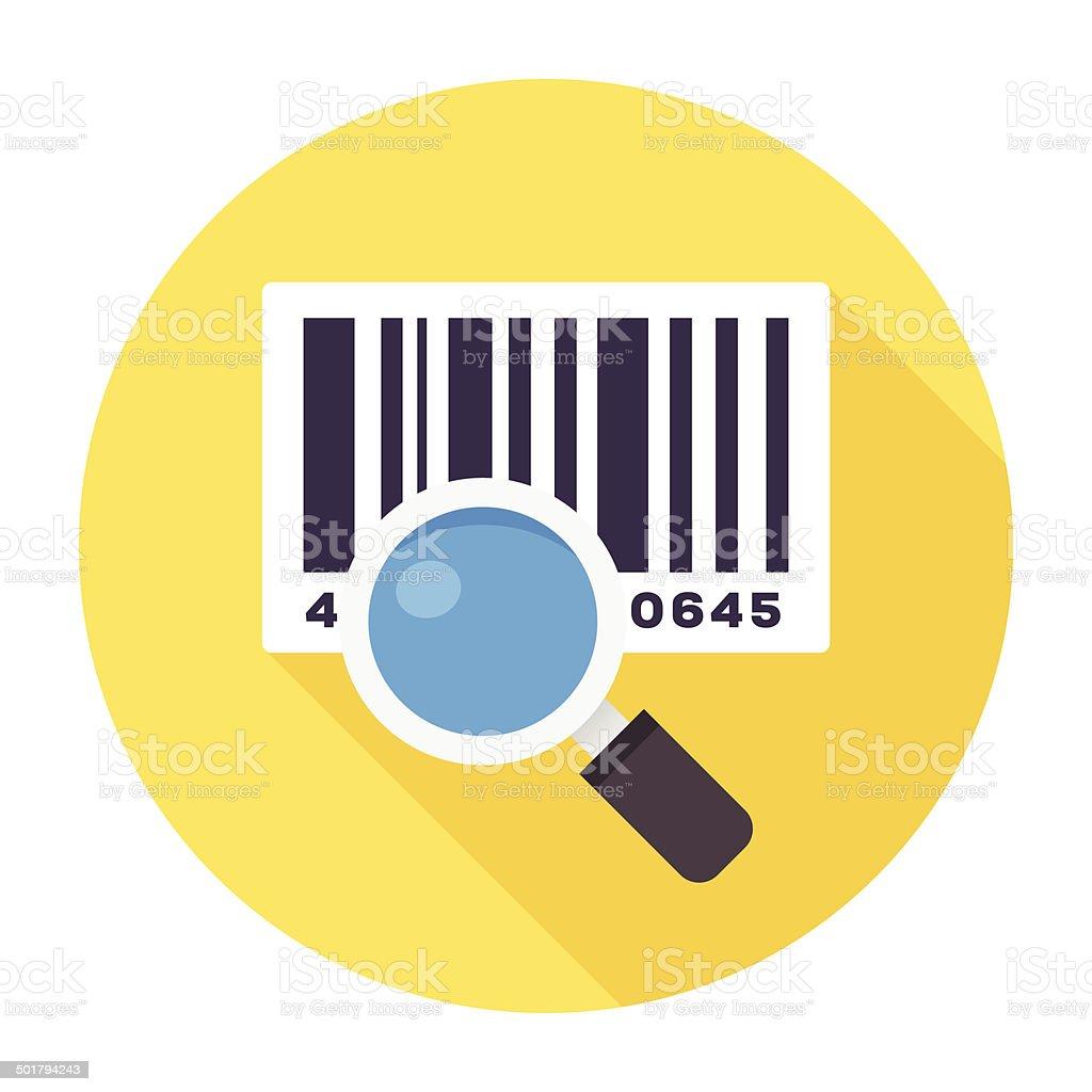Flat Barcode Reader Icon vector art illustration