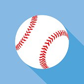 Flat Baseball Icon