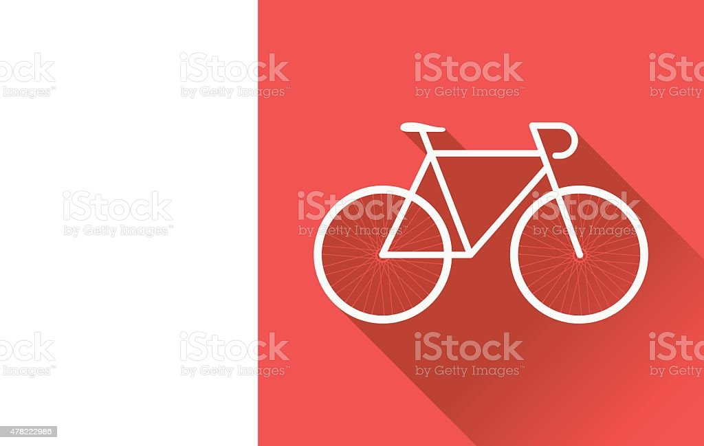 Flat Bicycle vector art illustration