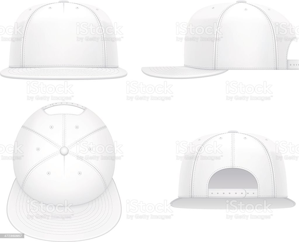Flat bill cap royalty-free stock vector art