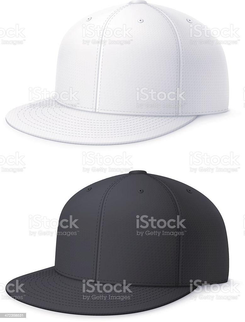 Flat bill cap royalty-free stock vector art