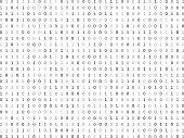 Flat binary code screen