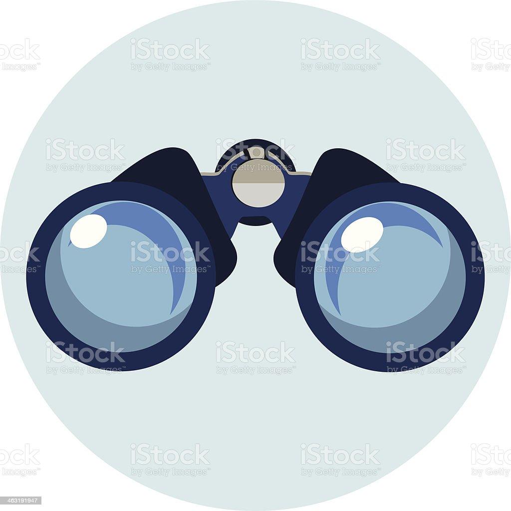 Flat Binocular Icon vector art illustration
