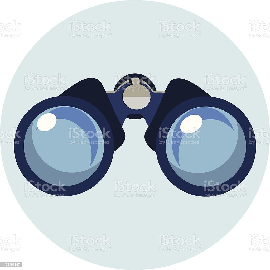 Flat Binocular Icon vector art illustration