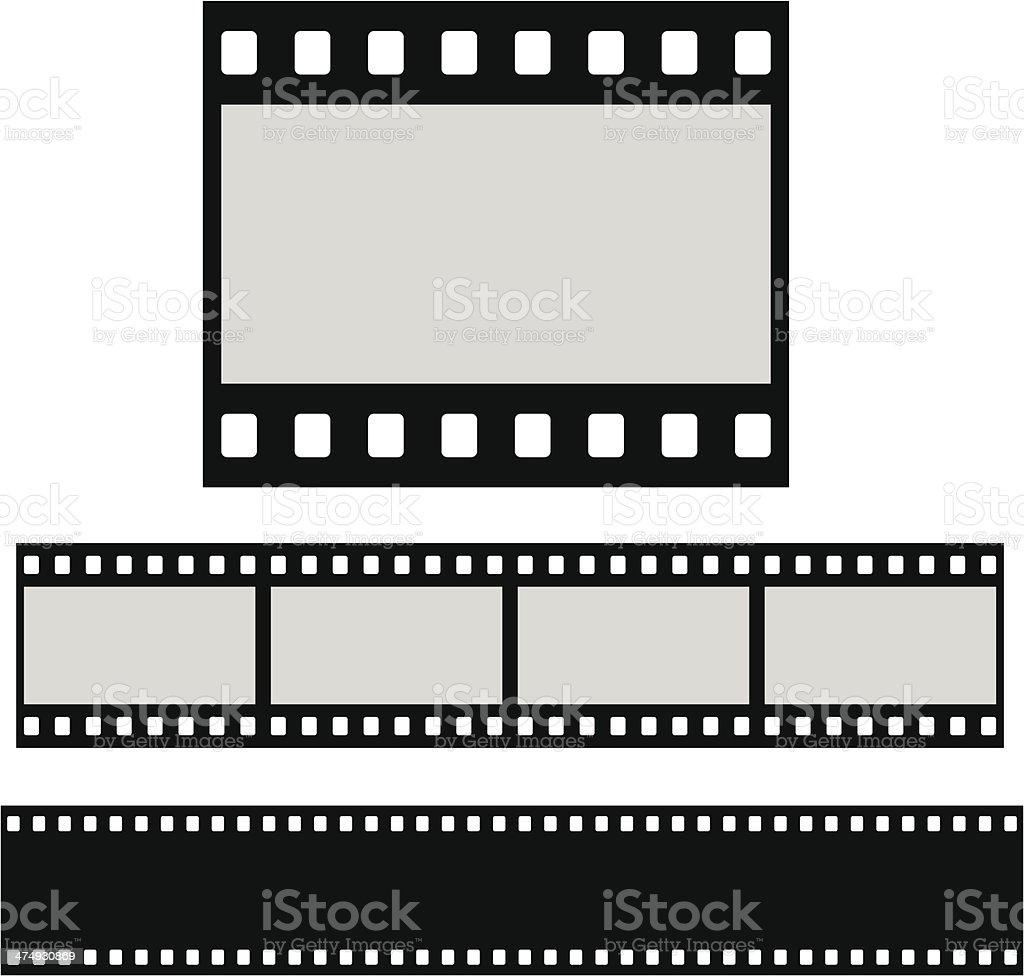 Flat blank filmstrip vector art illustration