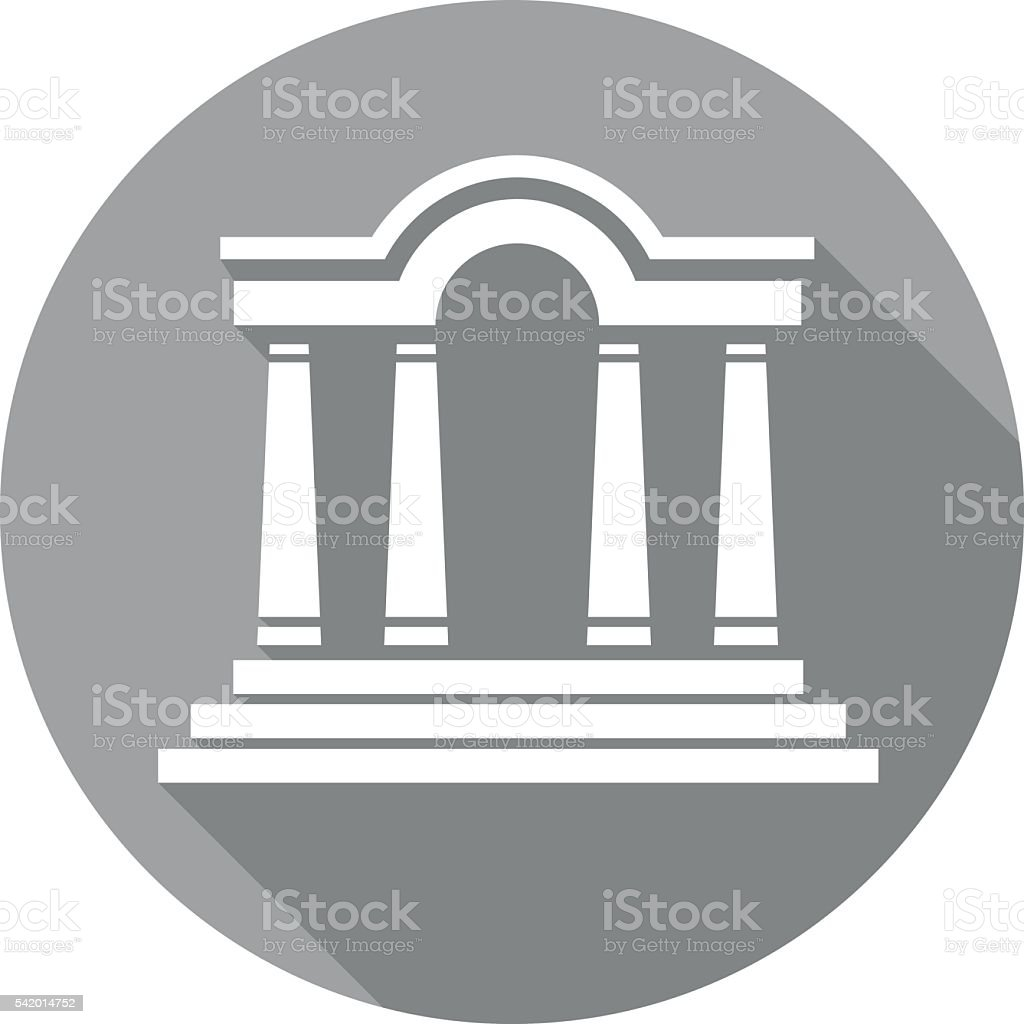 flat building icon vector art illustration