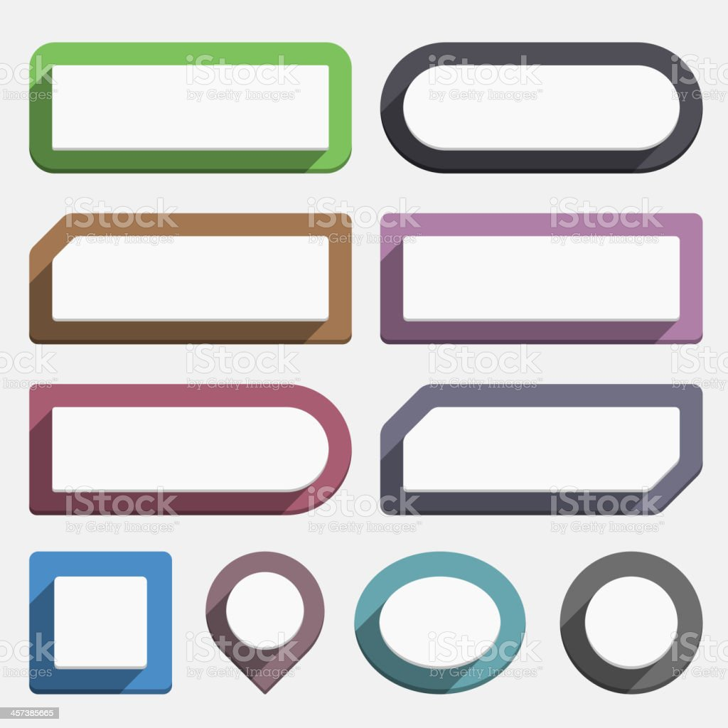 Flat Buttons royalty-free stock vector art
