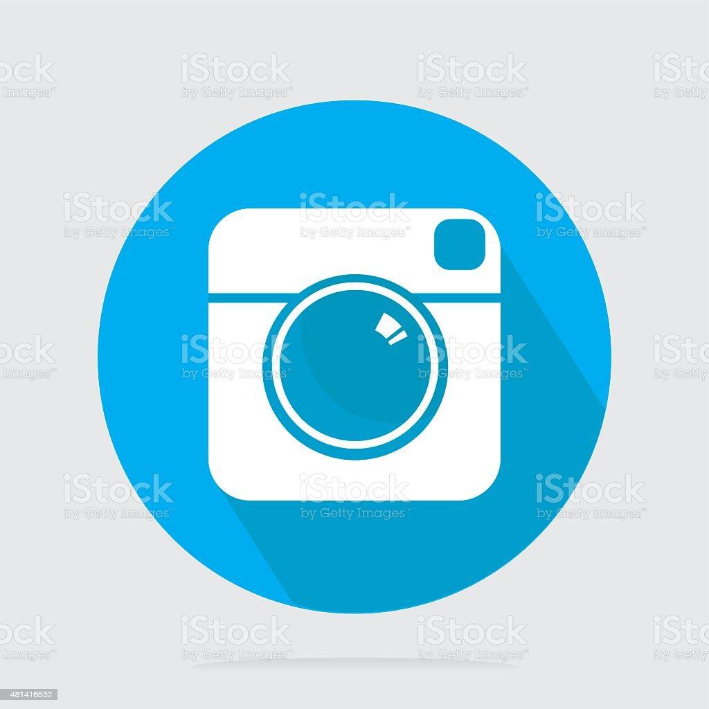Flat Camera Icon vector art illustration