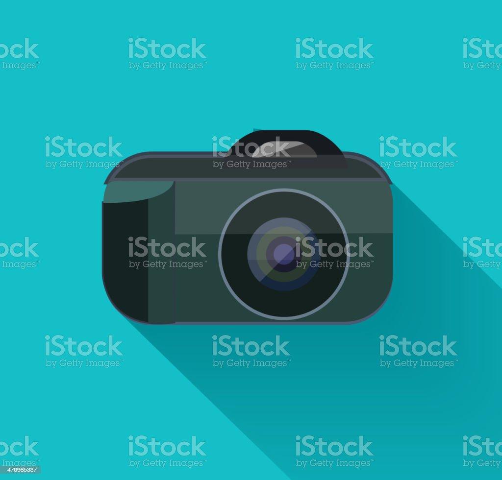 Flat camera royalty-free stock vector art