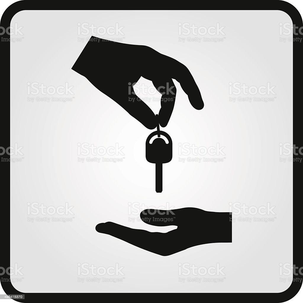 Flat car dealership icon vector art illustration