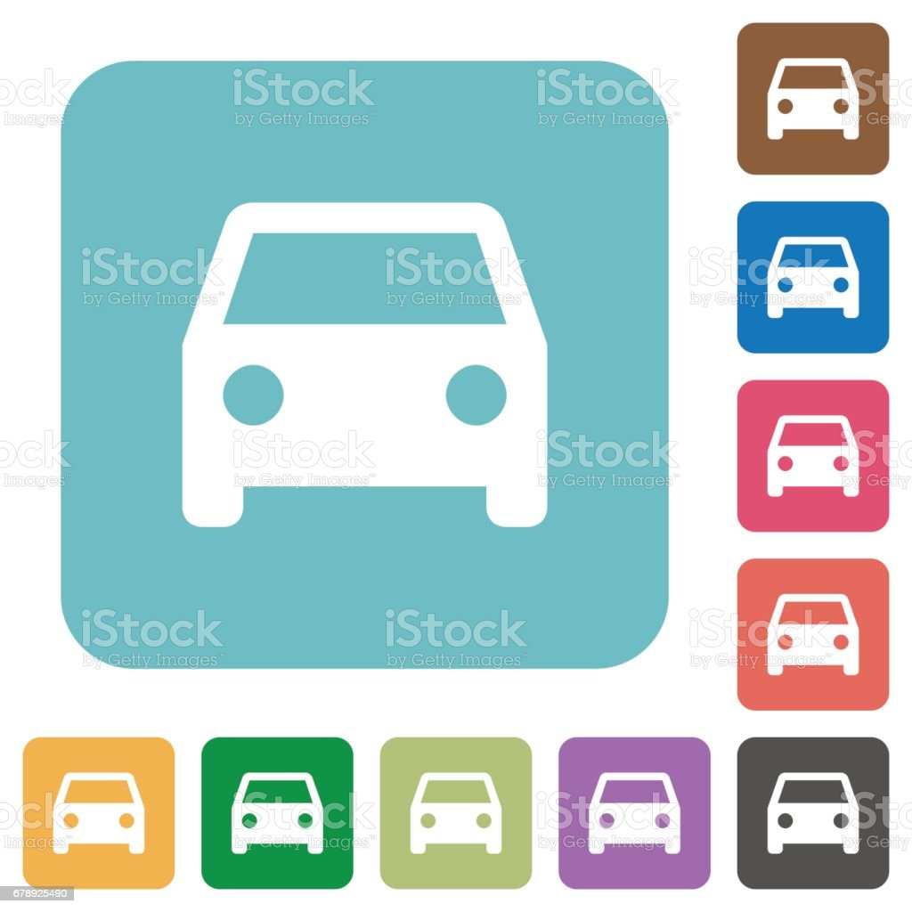 Flat car icons vector art illustration
