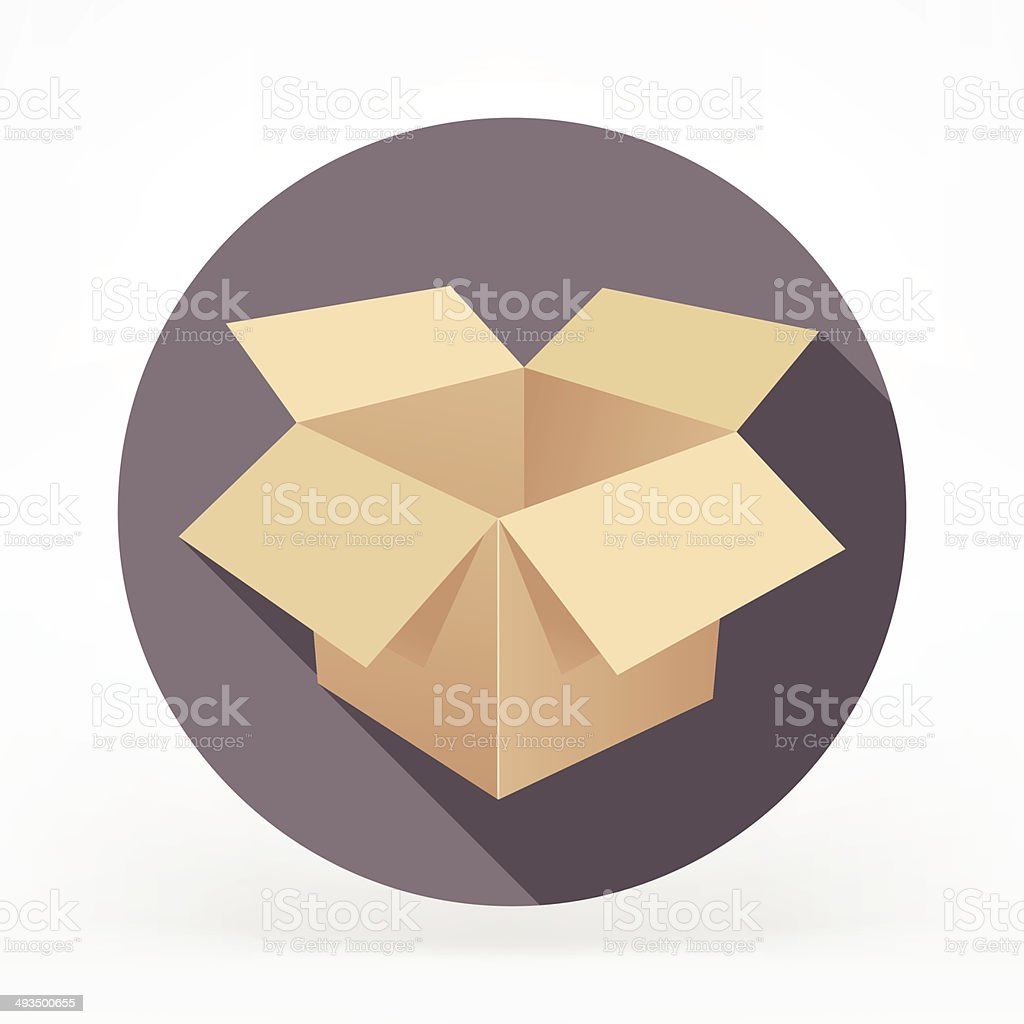 Flat Card Box Icon vector art illustration