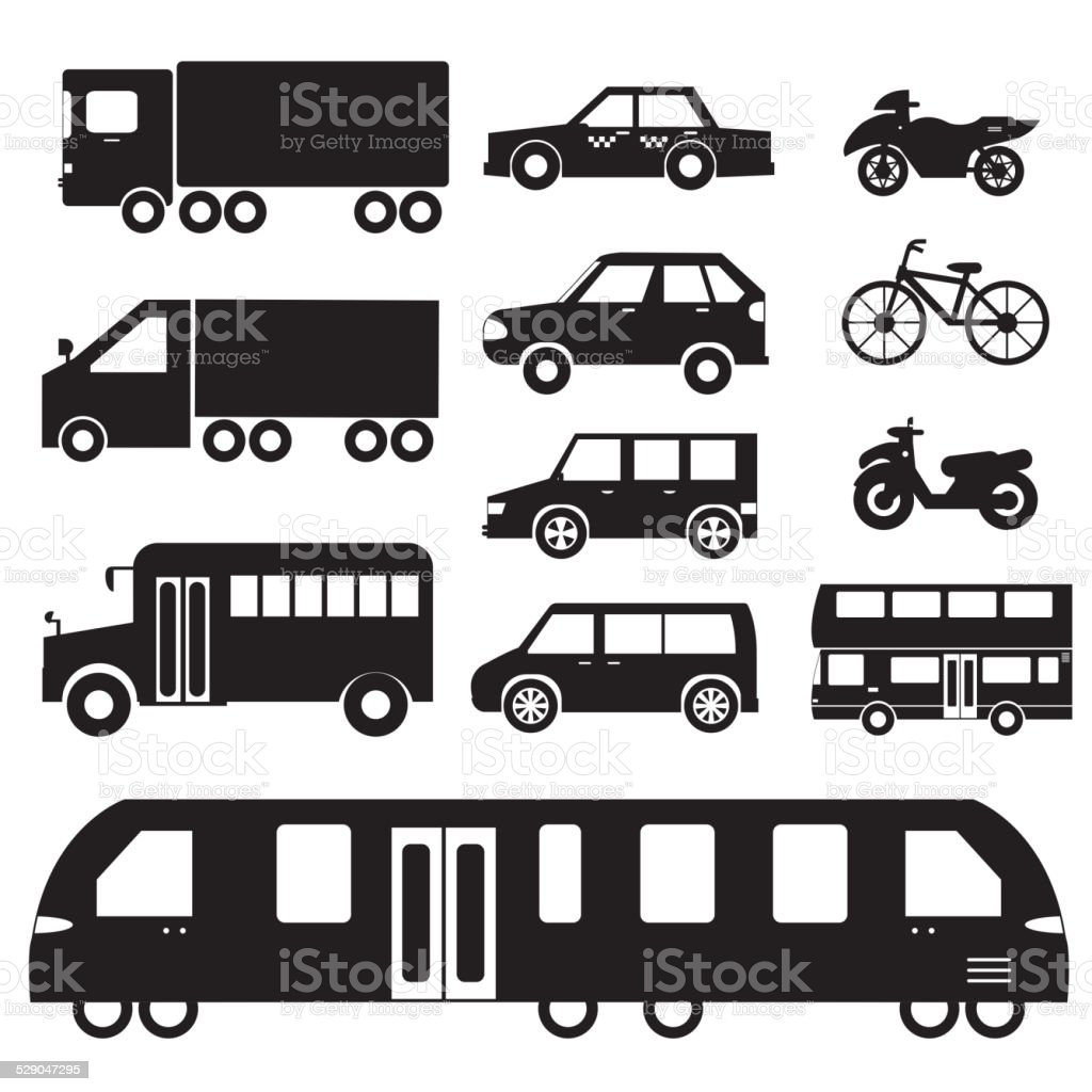 Flat cars set icon backgrounds. Tamplate for web and mobile vector art illustration