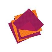 Flat cellulose sponges icon logo rag isolated on white background