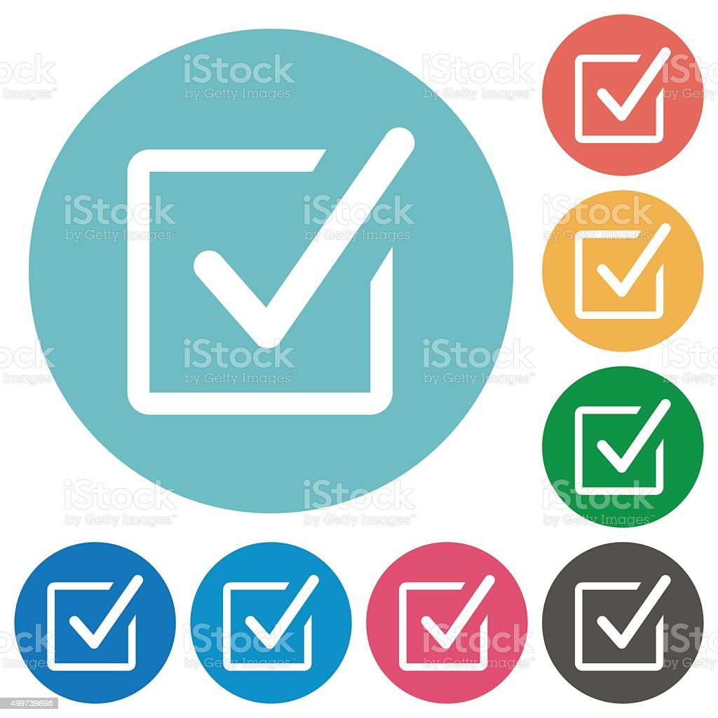 Flat checked box icons vector art illustration