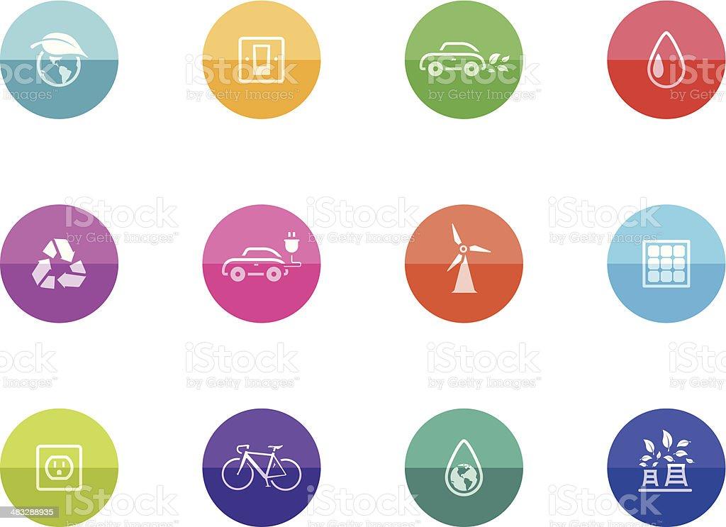 Flat Circle Icons - Environment vector art illustration