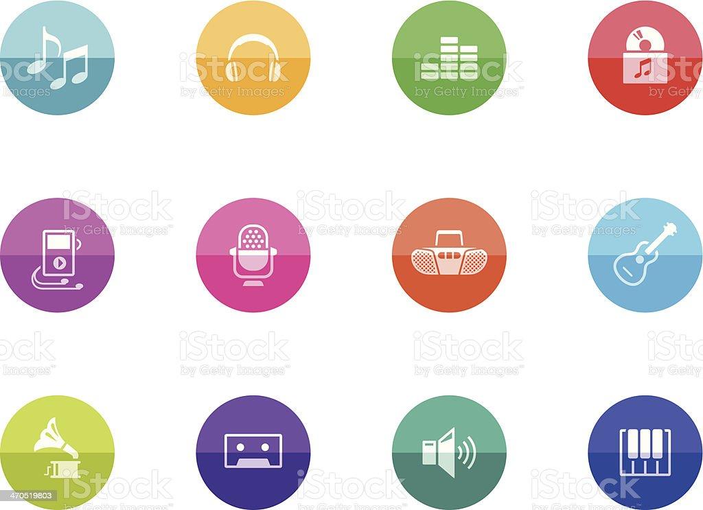 Flat Circle Icons - Music royalty-free stock vector art