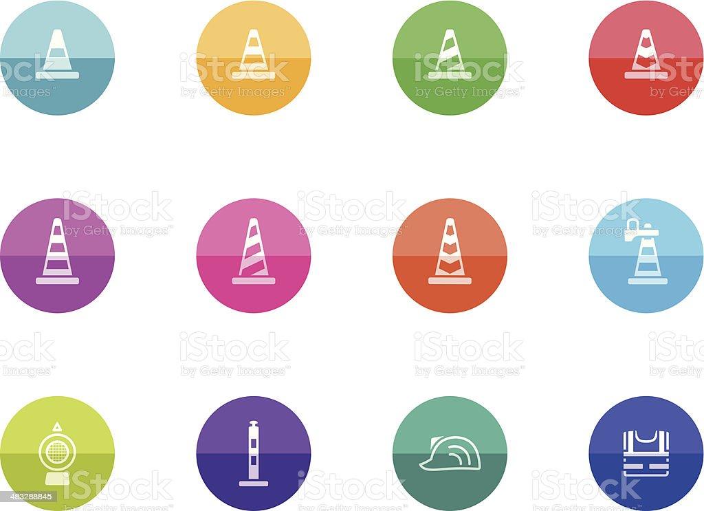 Flat Circle Icons - Traffic Sign royalty-free stock vector art