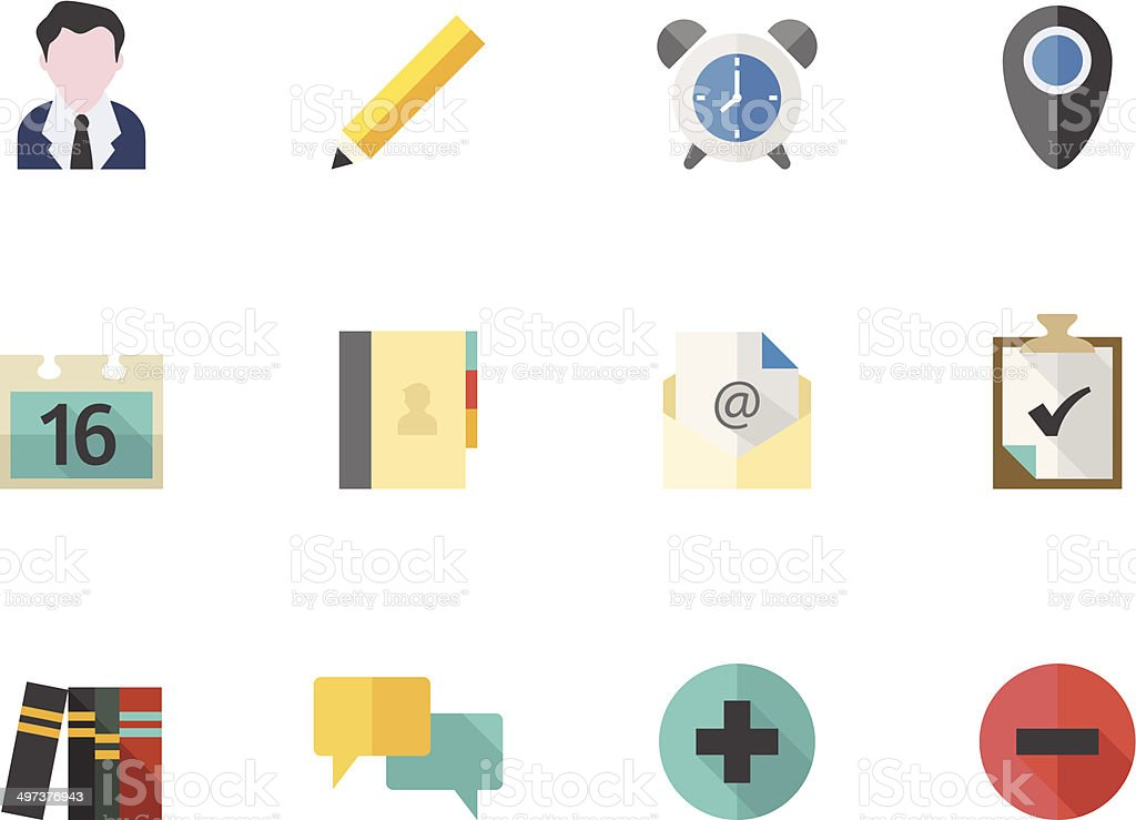 Flat Color Icons - Team Collaboration vector art illustration