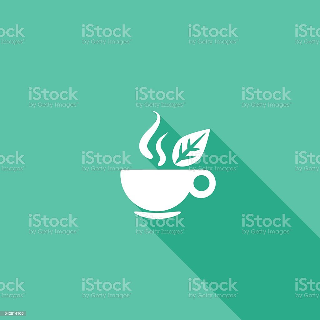 Flat Color UI Long Shadow Website Healthy Foods Icon vector art illustration