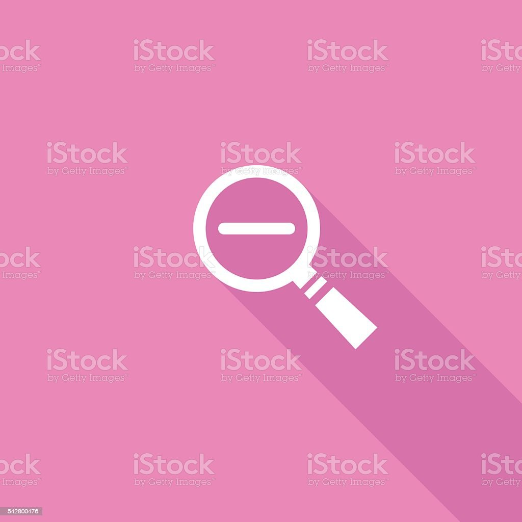 Flat Color UI Long Shadow Website Icon vector art illustration