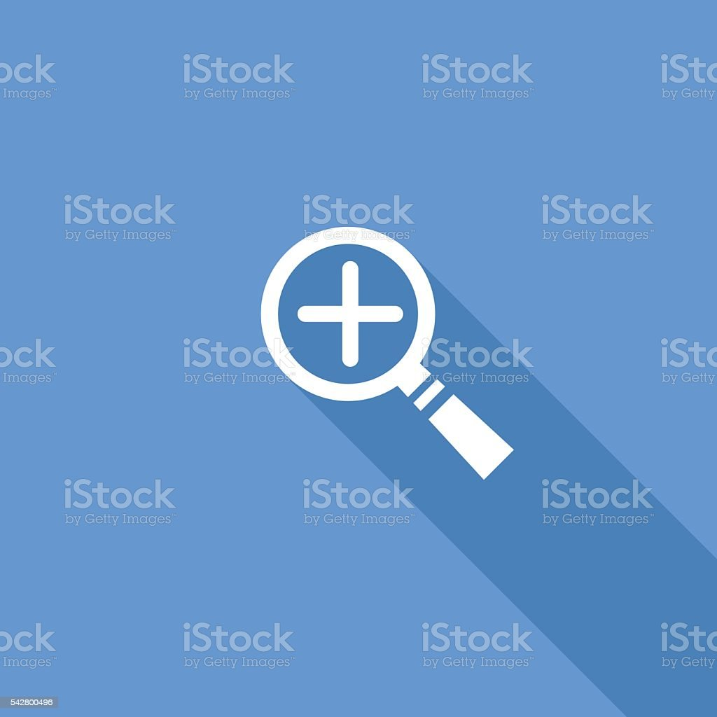 Flat Color UI Long Shadow Website Icon vector art illustration