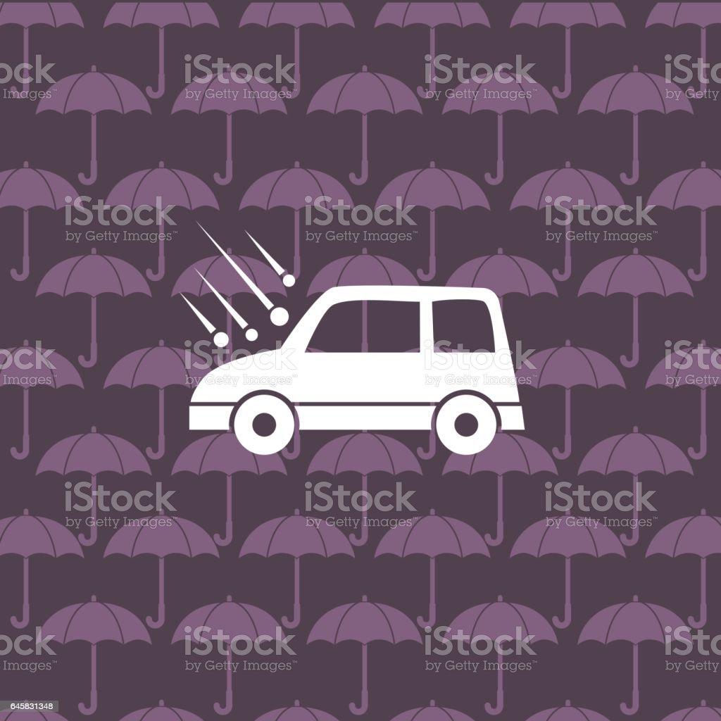 Flat Color Website Car Auto Insurance Icon vector art illustration