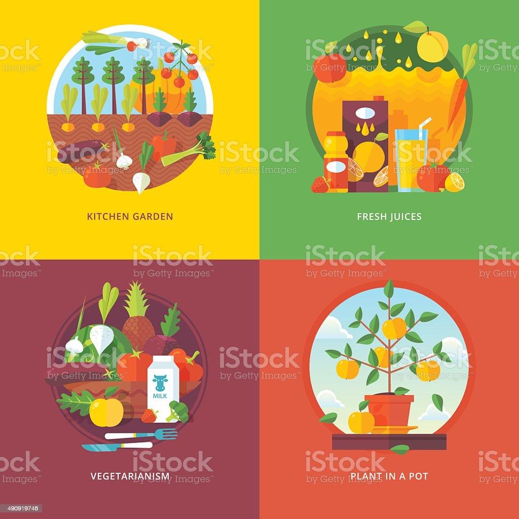 Plants For Kitchen Garden Flat Concepts For Kitchen Garden Fresh Juices Vegetarianism And