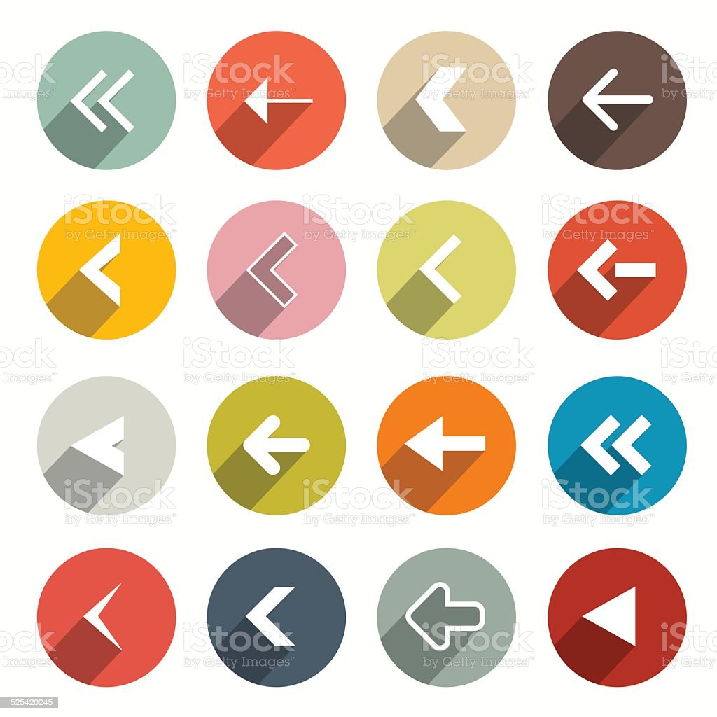 Flat Design Arrows Set vector art illustration
