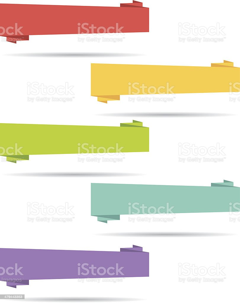 Flat design banners. Set I. Vector collection. vector art illustration