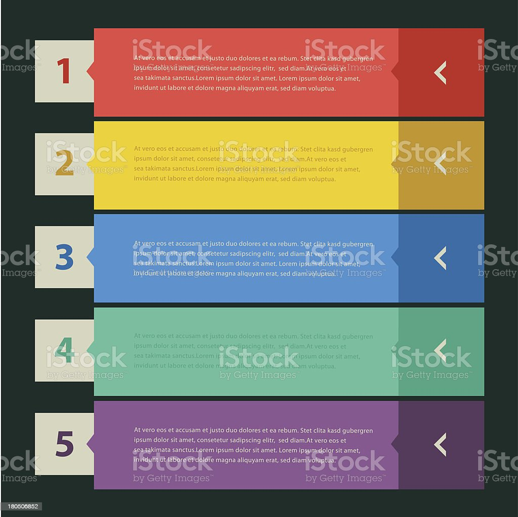 Flat design banners royalty-free stock vector art