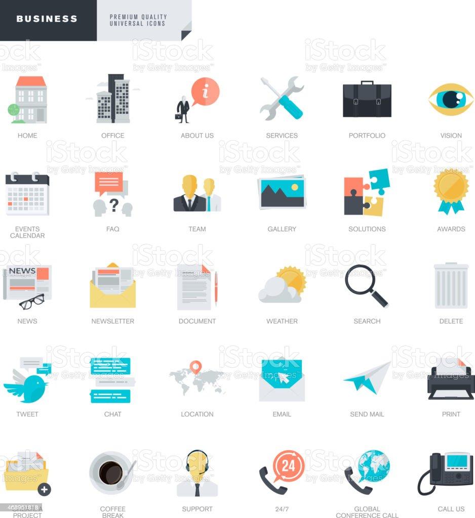 Diseño plano iconos de negocios para web y diseñadores gráficos illustracion libre de derechos libre de derechos