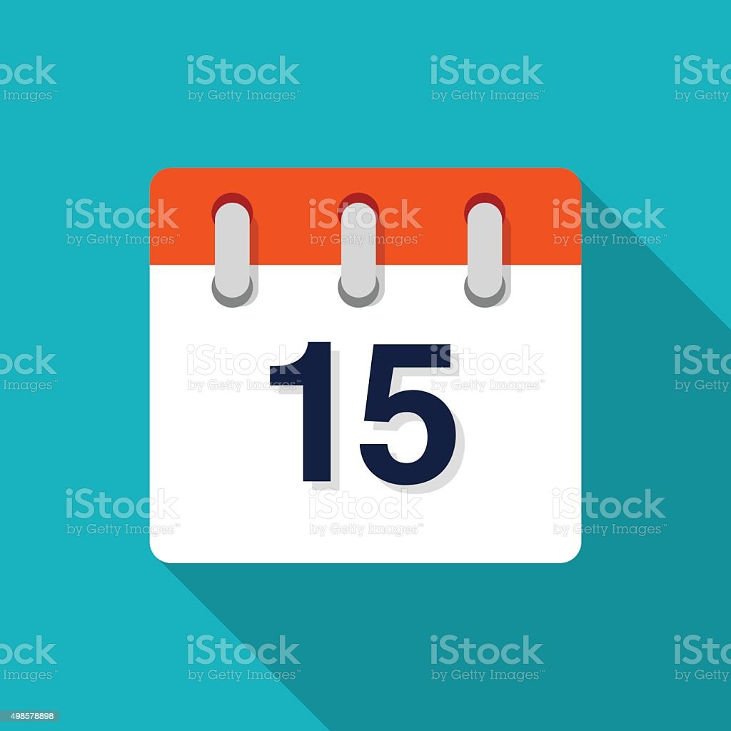 Flat Design Calendar Icon - VECTOR vector art illustration